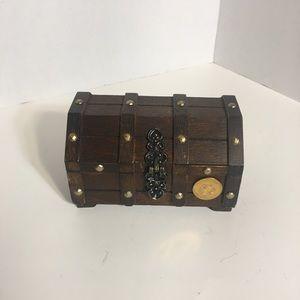 Neat Wooden Chest Trinket Box!
